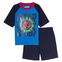 Boys Nerf Short Pyjamas Kids Shortie Summer Pjs T-Shirt + Shorts Set Nightwear