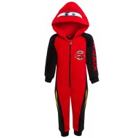 Boys Disney Cars Dress Up All In One Kids Lightning McQueen Fleece Sleepsuit Pjs