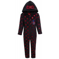 Girls Miraculous Ladybug Dress Up All In One Kids Luxury Fleece Sleepsuit Pjs