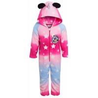 Girls Minnie Mouse Unicorn Dress Up All In One Disney Luxury Fleece Sleepsuit