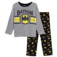 Boys Batman Pyjamas Kids DC Comics Full Length Pjs Super Hero Nightwear Set Size