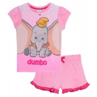 Disney Dumbo Short Pyjamas Girls Gift Boxed Shortie Pjs Set Nightwear Loungewear