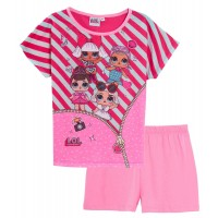 Girls LOL Surprise Dolls Short Pyjamas Kids Shortie Pjs Set Nightwear Age Size