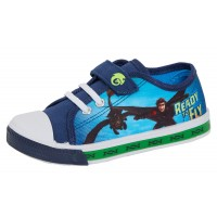 Boys How To Train Your Dragon Light Up Canvas Pumps Kids Easy Fasten Trainers