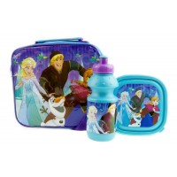 Disney Frozen Girls Lunch Bag + Sandwich Box + Bottle Set