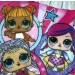 Girls Lol Surprise Dolls Swimming Costume - Ruffle Shoulder